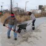 Volunteers work to get clean up Beach 30th Street Playground